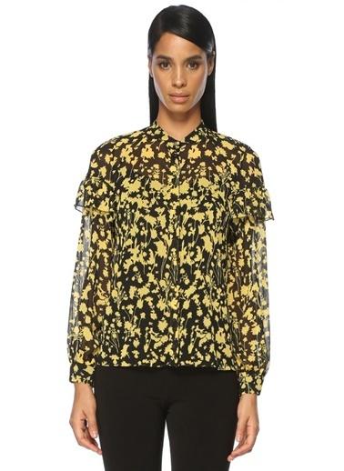 Çiçek Desenli Uzun Kollu Gömlek-Academia